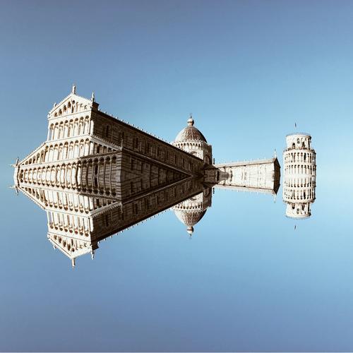 Der schiefe Turm von Pisa mit Entourage Stadt Architektur Senior Gebäude Zufriedenheit Kirche ästhetisch Ewigkeit einzigartig Italien Klima Sehenswürdigkeit