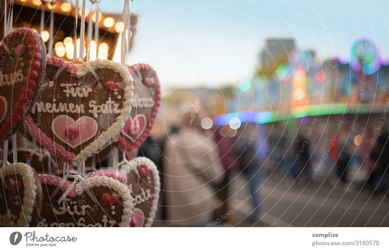 Volksfest, Kirmes & Jahrmarkt |Lebkuchenherzen Lebensmittel Teigwaren Backwaren Süßwaren Freude Entertainment Veranstaltung Feste & Feiern Oktoberfest Kitsch