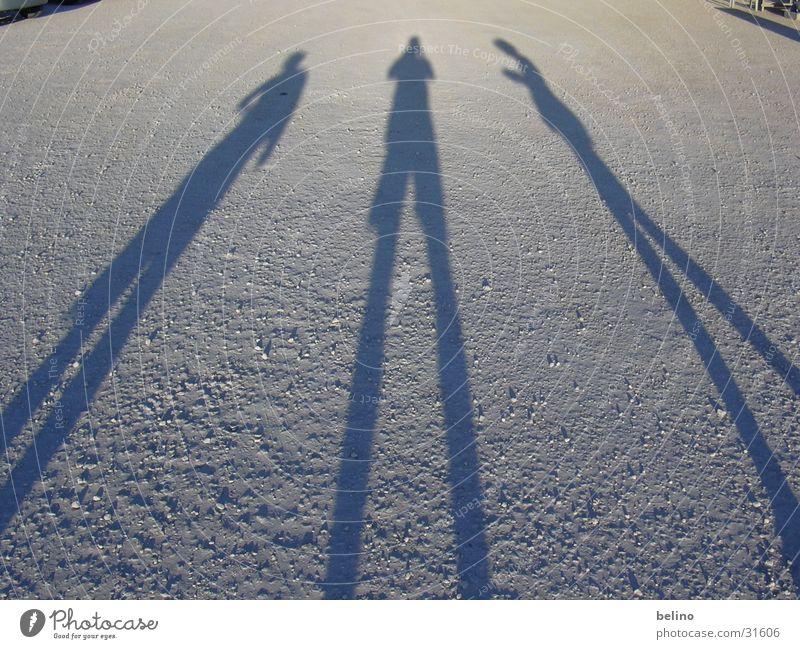 Shadows Mensch Sonne Menschengruppe