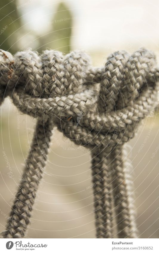 Verknüpfung Knoten Kraft Zusammensein Zusammenhalt gebunden Verbundenheit Synthese Seil fest Halt Farbfoto Außenaufnahme Nahaufnahme Menschenleer