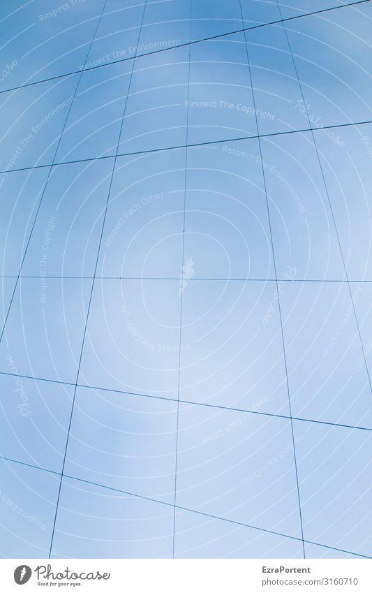 Zeit für eigene Seilschaften Himmel Wolkenloser Himmel Dekoration & Verzierung Linie blau Kabel Geometrie Grafische Darstellung graphisch Farbfoto Außenaufnahme