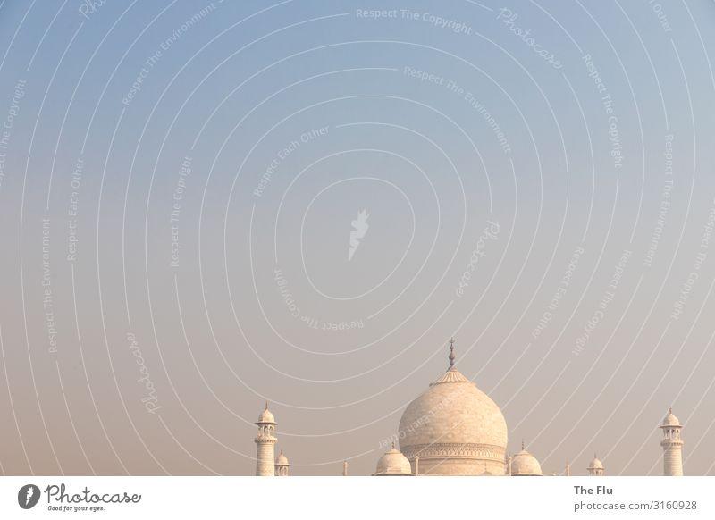 Der Himmel überm Taj Mahal Ferien & Urlaub & Reisen Tourismus Ausflug Ferne Sightseeing Städtereise Sommer Baustelle nur Himmel Wolkenloser Himmel Sonnenaufgang
