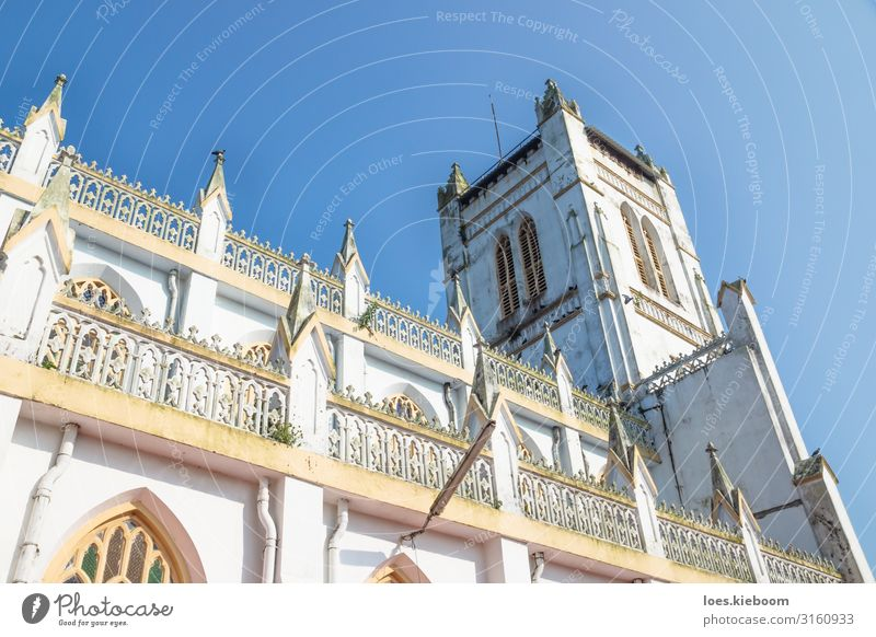 St. George Church in Alappazha, Kerala, India Ferien & Urlaub & Reisen Tourismus Ferne Sightseeing Städtereise Sommer Strand Wolkenloser Himmel Stadt Kirche