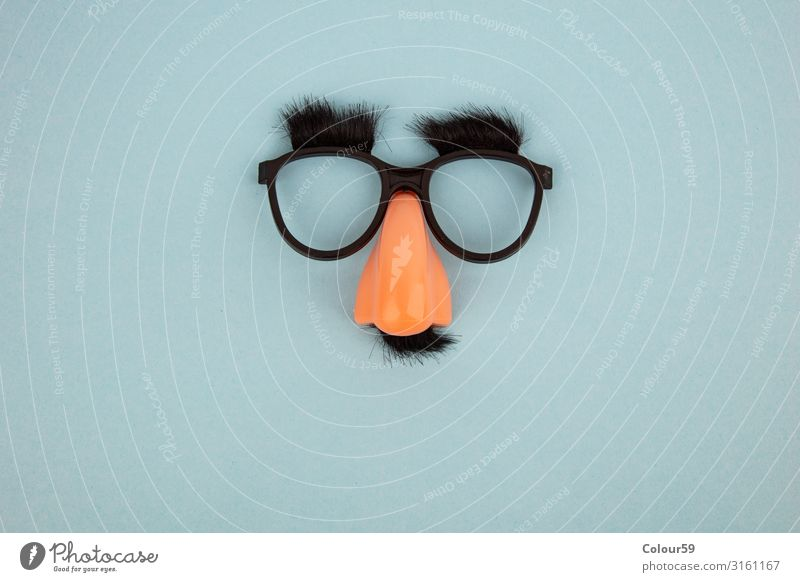 Lustige Maske Freude Halloween Sonnenbrille Kunststoff Zeichen lustig Fröhlichkeit Hintergrundbild Gesicht Nase Augenbraue Scherzartikel Brille Bart Spass