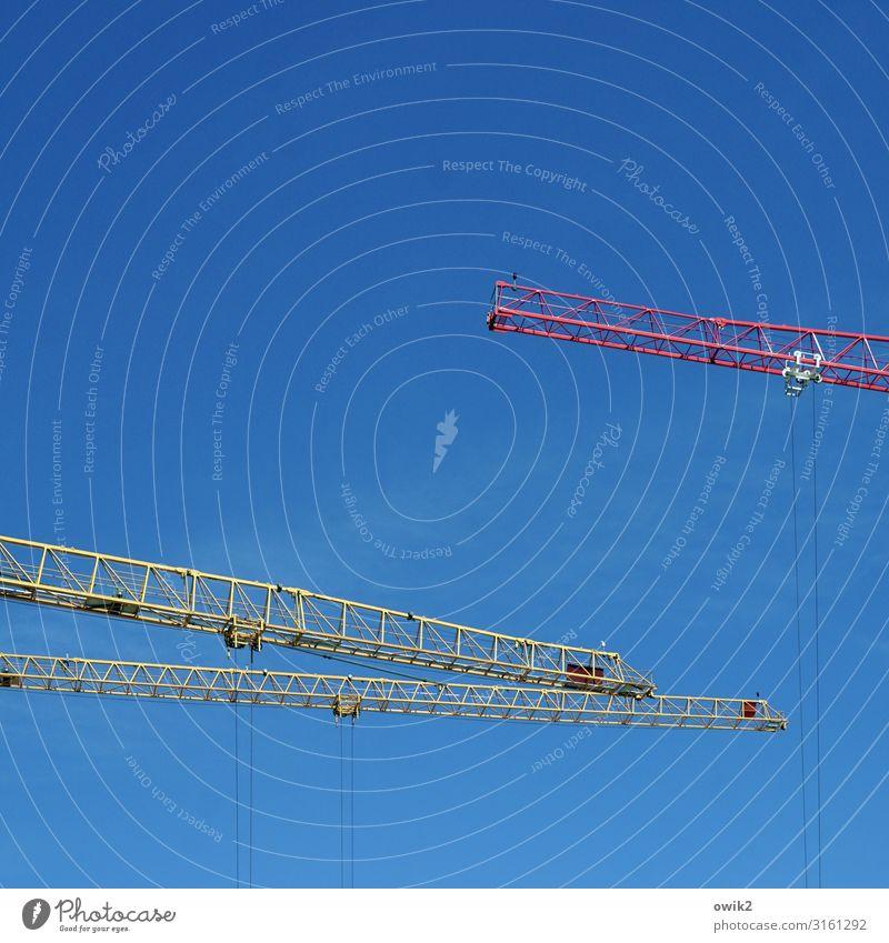 Auf zum letzten Gefecht Arbeit & Erwerbstätigkeit Arbeitsplatz Baustelle Technik & Technologie Kran Ausleger Wolkenloser Himmel Wien Hauptstadt Stadtzentrum