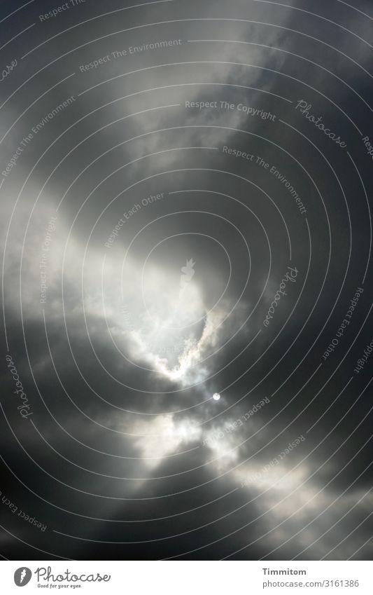 Wettervorhersage? Umwelt Urelemente Luft Himmel Wolken Sonne schlechtes Wetter Heidelberg bedrohlich dunkel blau grau schwarz weiß Gefühle Hoffnung Klima Sorge