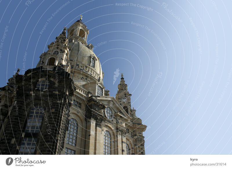 frauenkirche - dresden alt Stein Mauer Religion & Glaube neu Baustelle Kultur Dresden Vergangenheit historisch Krieg Zerstörung Altstadt Kuppeldach Auftrag