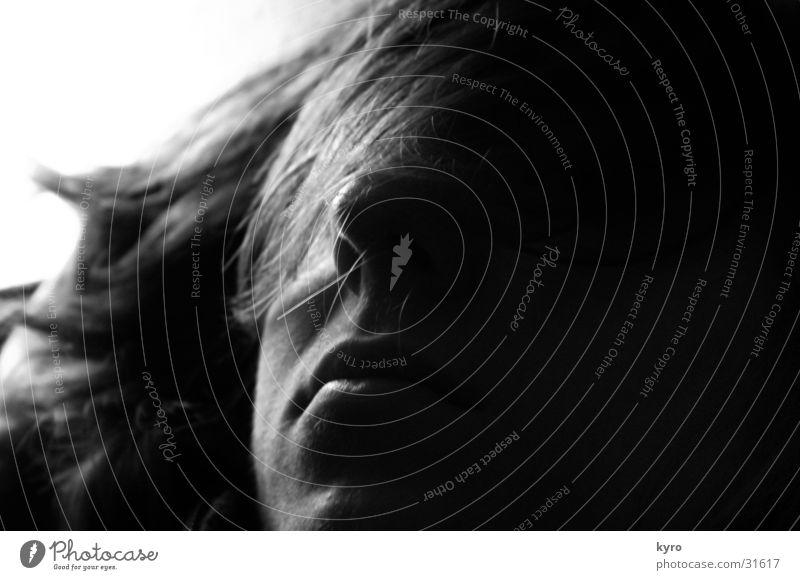 Gute N8 Mann Gesicht dunkel Haare & Frisuren träumen Mund Nase schlafen Müdigkeit Halbschlaf