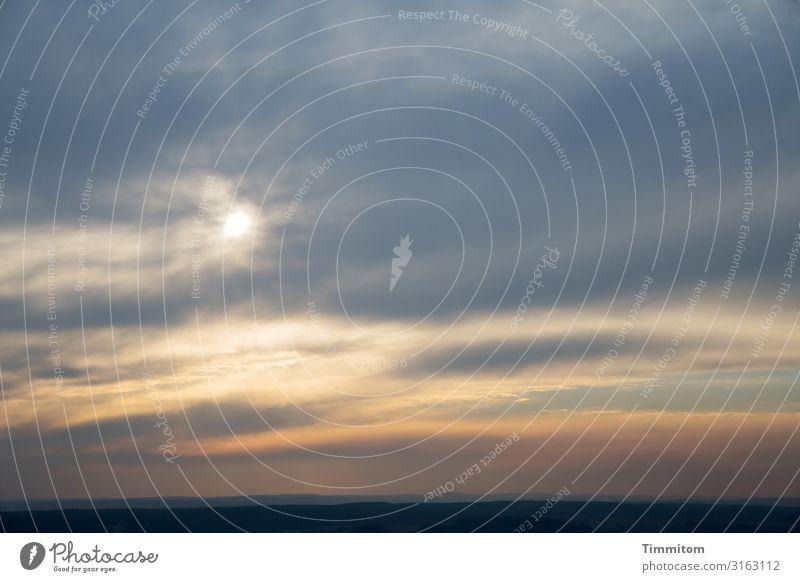 Abendhimmel Himmel Ferien & Urlaub & Reisen Natur blau schön Landschaft Sonne Wolken Freude schwarz Umwelt natürlich Gefühle braun Zufriedenheit gold