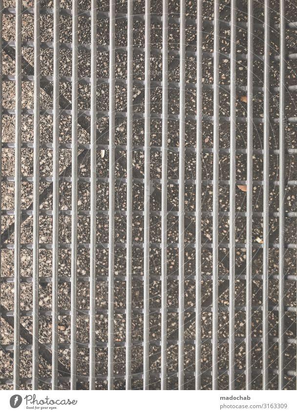 Mustermix Stein Metall Linie einfach elegant trashig trist Stadt grau ästhetisch Design Genauigkeit Netzwerk Präzision Ferne Symmetrie Geometrie Bodenbelag