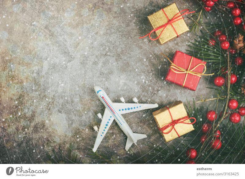 Weihnachtsreise Konzept Hintergrund Lifestyle Ferien & Urlaub & Reisen Tourismus Ausflug Sightseeing Winter Schnee Winterurlaub Dekoration & Verzierung