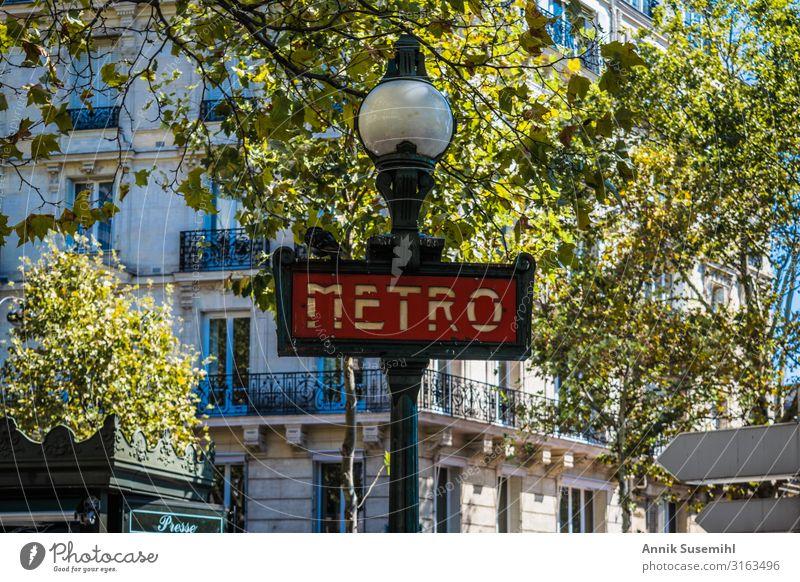 Metro-Schild im Jugendstil Paris Öffentlicher Personennahverkehr Bahnfahren Tunnel Schienenverkehr U-Bahn Schienenfahrzeug Bahnhof kaufen