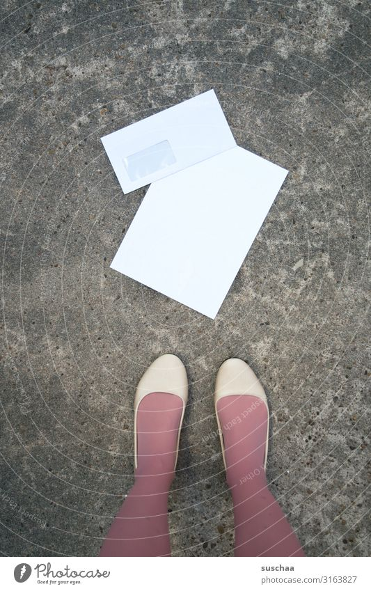 altmodisch Brief Schreibpapier Briefumschlag Papier schreiben analog schriftlich rückständig leer Absender Empfänger Post Information Kommunikation anmelden