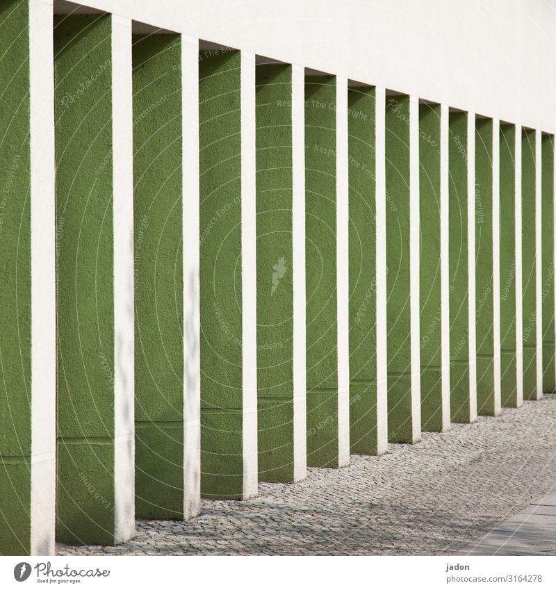 aufstellung. elegant Stil Architektur Stadt Menschenleer Haus Bauwerk Gebäude Mauer Wand Fassade Wege & Pfade Stein Linie Sicherheit Zufriedenheit Säule Arkaden