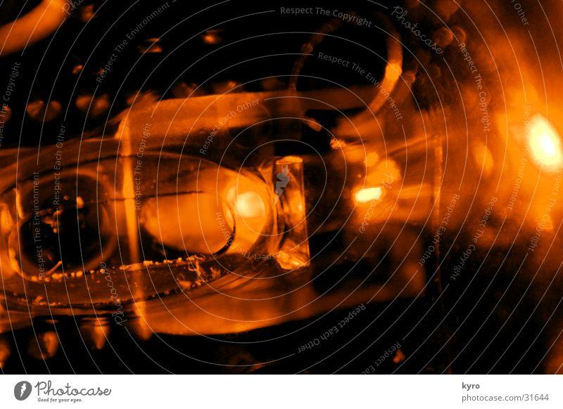 leucht-ding dunkel Lampe hell orange Glas Statue obskur Computermaus Diode