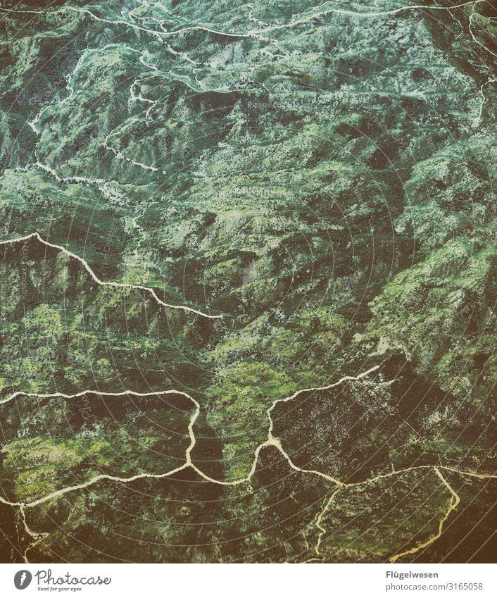 Luftaufnahme zwei Ferien & Urlaub & Reisen Tourismus Ausflug Abenteuer Ferne Freiheit Blick Aussicht Luftverkehr Flugzeug Wolken Berge u. Gebirge Bergsteigen