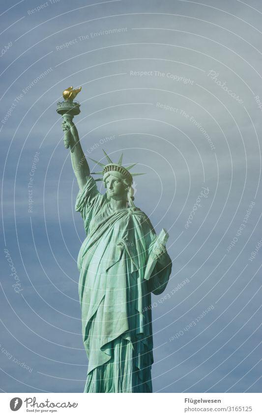 Freiheitslady Ferien & Urlaub & Reisen Reisefotografie Tourismus Ausflug Abenteuer Ferne Sightseeing Städtereise Sehenswürdigkeit Wahrzeichen Denkmal