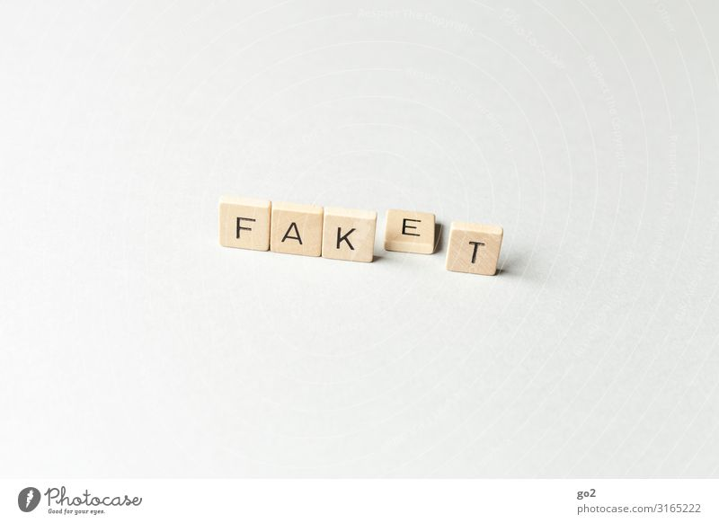 Fake News / Fake oder Fakt fake news fakenews Trump Kapitalismus Postfaktisch Medienbranche Holz Schriftzeichen Vertrauen Verantwortung achtsam Wachsamkeit