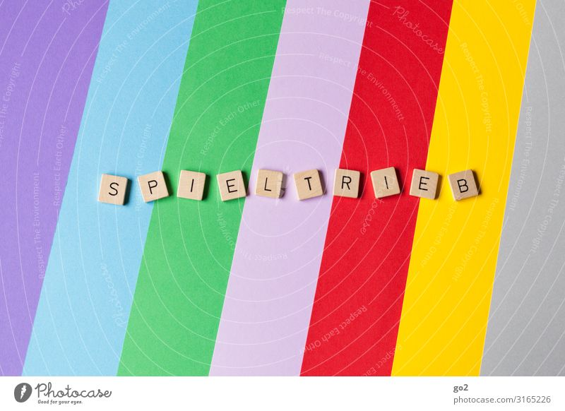 Spieltrieb Freizeit & Hobby Spielen Kinderspiel Kindererziehung Kindergarten Schule Papier Holz Schriftzeichen ästhetisch außergewöhnlich frei Fröhlichkeit