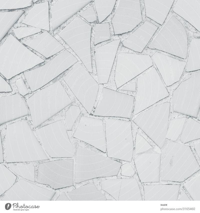 Geschmacksneutral und ohne Farbstoffe Stil Design Basteln Dekoration & Verzierung Kunst Kunstwerk Mauer Wand Sammlung Stein ästhetisch eckig einfach hell