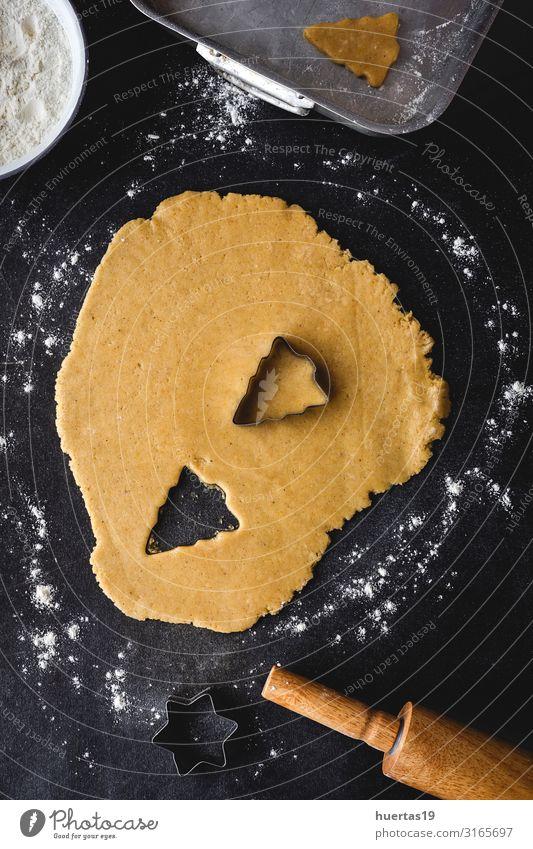 Lebkuchen-Keksteig zu Weihnachten Lebensmittel Teigwaren Backwaren Kuchen Dessert Ernährung Winter Dekoration & Verzierung Tisch Küche Feste & Feiern Halloween