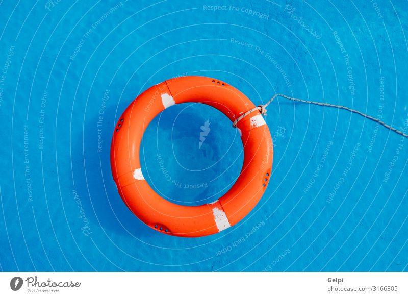 Bunte Floats auf einem Pool Freude schön Erholung Schwimmbad Freizeit & Hobby Ferien & Urlaub & Reisen Sommer Sonne Strand Wasser Ring Kunststoff blau rot Farbe