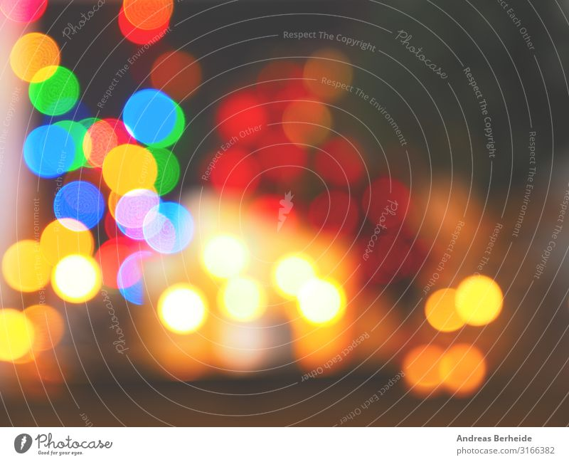 Blurred colorful Christmas lights Stil Design Weihnachten & Advent Dekoration & Verzierung Kerze retro mehrfarbig Tradition candles greeting lanterns blurring