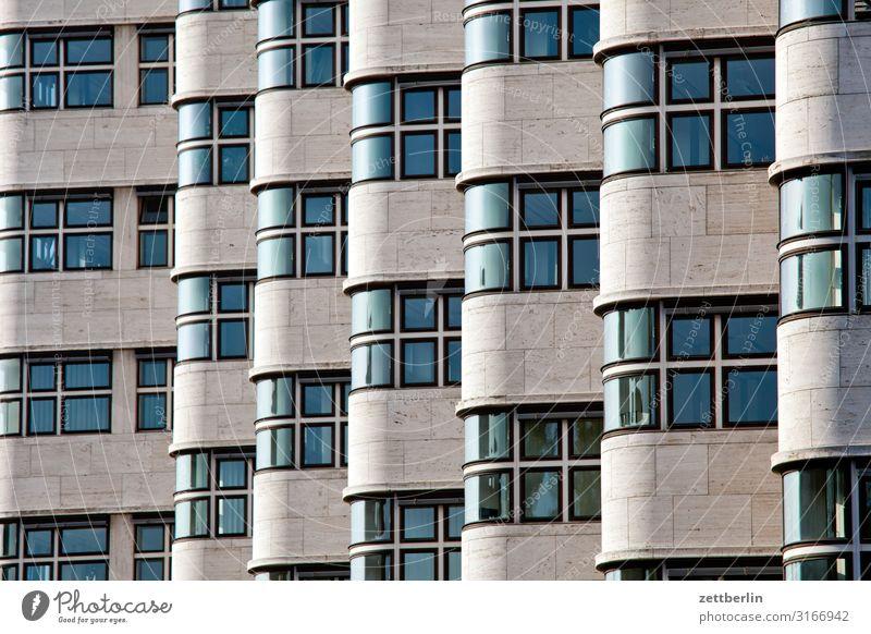 Shellhaus Architektur Bauhaus Etage Fassade Fenster Vorderseite Gebäude Haus shell haus shellhaus Menschenleer Textfreiraum Hintergrundbild Berlin Tiergarten