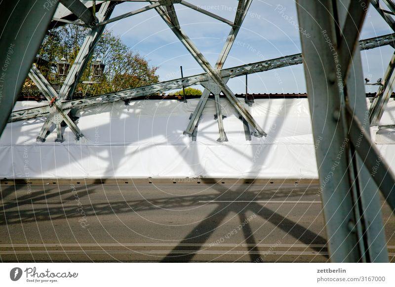 Blaues Wunder, Querformat Altstadt Architektur Brücke Dresden Elbufer Elbe Hauptstadt Ferien & Urlaub & Reisen Reisefotografie Sachsen Stadt Städtereise