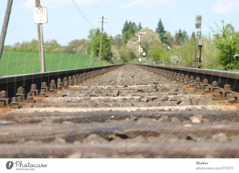 railroad Gleise Eisenbahn Verkehr Bahnlinie