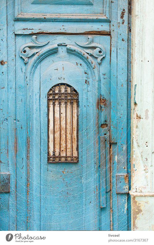 blaue Tür einer Straße in Havanna, Kuba Lifestyle Design Leben Ferien & Urlaub & Reisen Tourismus Ausflug Insel Haus Dekoration & Verzierung Kunst Kunstwerk