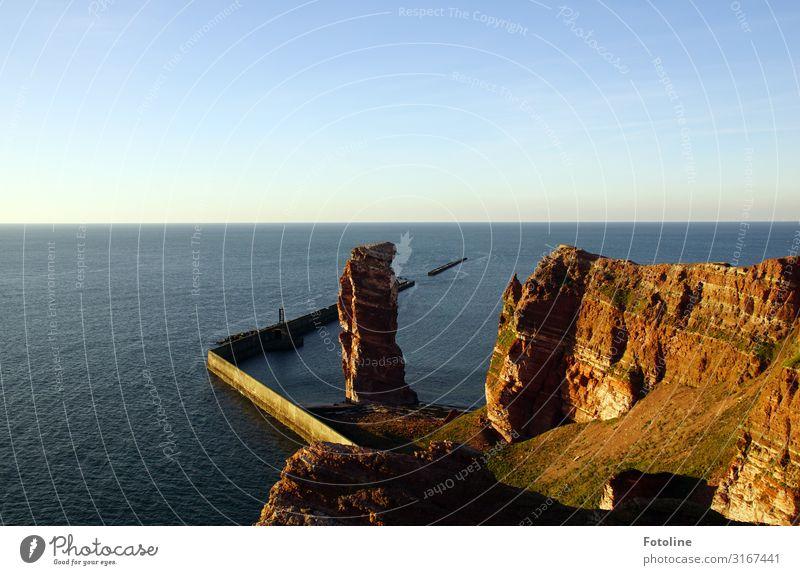 Lange Anna (Nathurn Stak) Umwelt Natur Landschaft Urelemente Erde Wasser Himmel Wolkenloser Himmel Horizont Schönes Wetter Felsen Wellen Küste Nordsee Meer