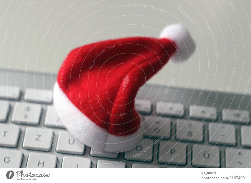 Xmas Business Weihnachten & Advent Mütze Nikolausmütze stehen authentisch Freundlichkeit Fröhlichkeit trendy einzigartig positiv grau rot weiß Gefühle Vorfreude
