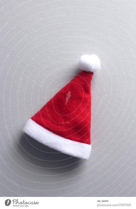 Weihnachtsmütze Feste & Feiern Weihnachten & Advent Stoff Fell Filz Accessoire Mütze Nikolausmütze liegen ästhetisch frech Freundlichkeit Fröhlichkeit hell