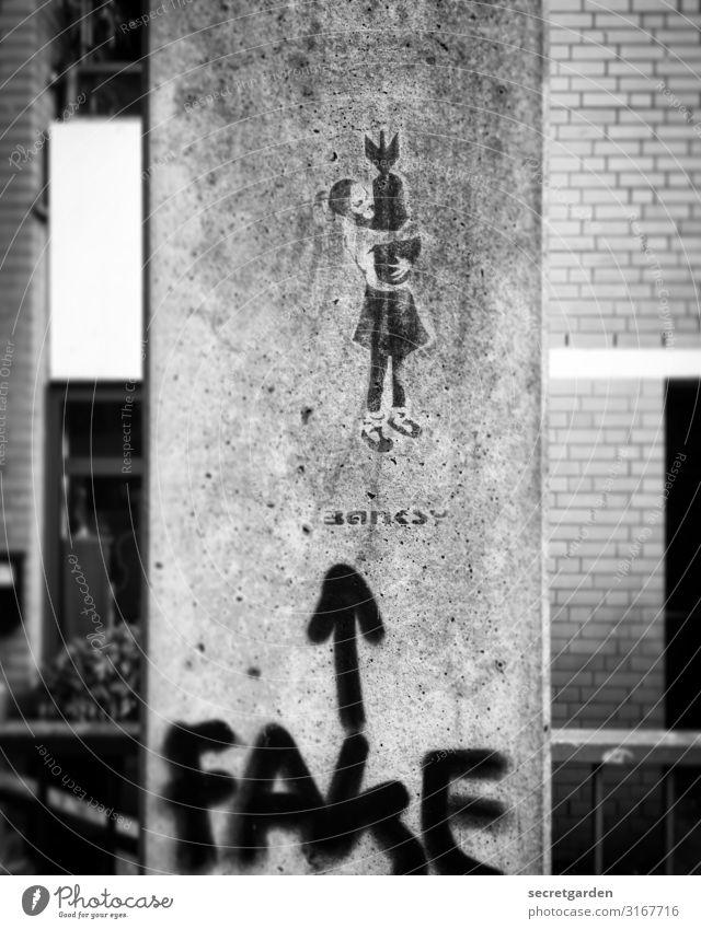Das Mädchen mit dem Schwefelholz. Kindheit Jugendliche 1 Mensch Kunst Künstler Kunstwerk Subkultur Hamburg Mauer Wand Sehenswürdigkeit Graffiti Pfeil zeichnen
