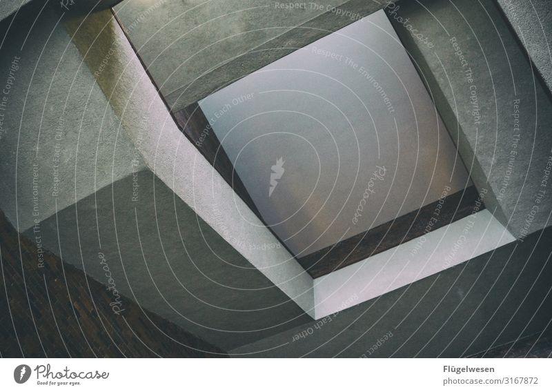 B TON Beton Mauer Wand Treppe Säule Pylon grau Maurer Schatten durchsichtig Ecke Linie Kunst Empore Kunstgalerie Loggia Stein Sand Grauwert