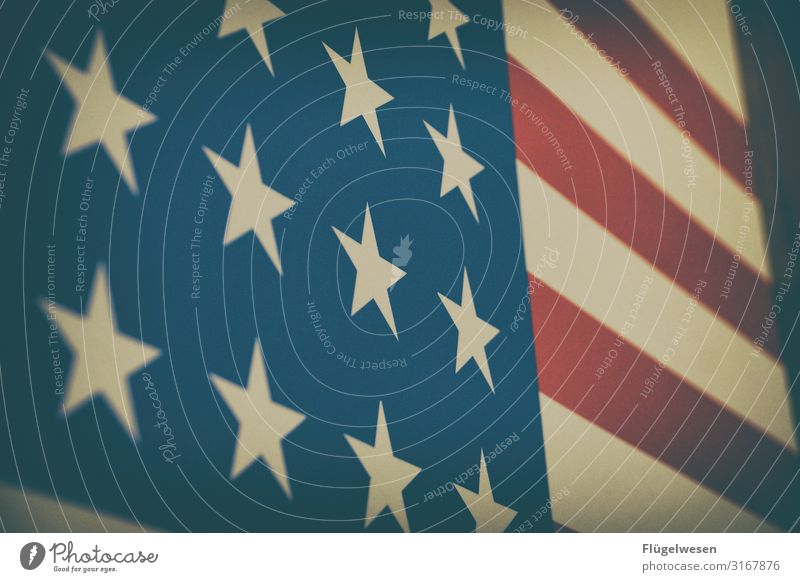 USA Ferien & Urlaub & Reisen Ferne Tourismus Freiheit Ausflug Abenteuer Wind Politische Bewegungen Fahne Amerika Stars and Stripes wählen Sightseeing