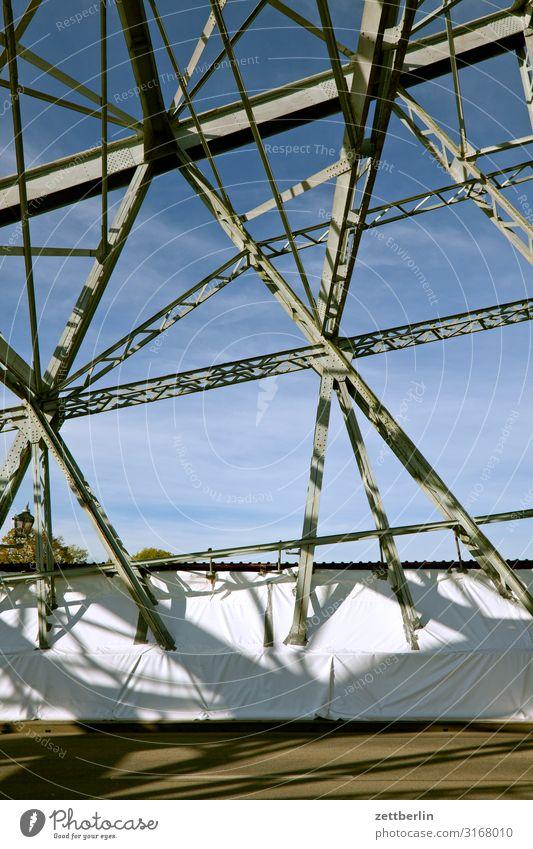 Blaues Wunder again Altstadt Architektur Brücke Stahlbrücke Eisen Dresden Elbufer Hauptstadt Ferien & Urlaub & Reisen Reisefotografie Sachsen Stadt Städtereise