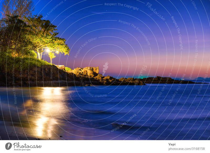 Himmel Ferien & Urlaub & Reisen Natur Sommer blau schön grün Wasser weiß Landschaft rot Baum Meer Erholung Strand dunkel