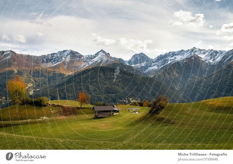 Berge und Täler in Fiss, Österreich Ferien & Urlaub & Reisen Tourismus Berge u. Gebirge wandern Natur Landschaft Himmel Wolken Sonnenlicht Herbst Schönes Wetter