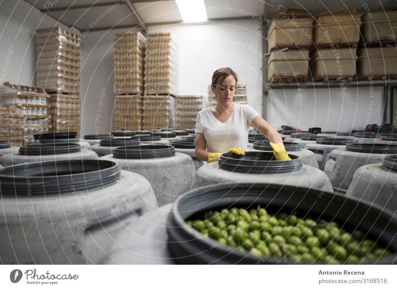 Qualität der Oliven Lebensmittel Gemüse Frucht Lifestyle Mensch feminin Frau Erwachsene 1 30-45 Jahre Arbeit & Erwerbstätigkeit alt Olivenöl Industrie Beruf