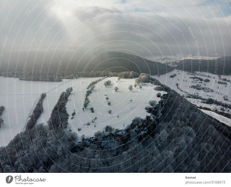 Albtrauf <3 harmonisch Wohlgefühl Freizeit & Hobby Ausflug Abenteuer Ferne Freiheit Schnee Winterurlaub Natur Landschaft Himmel Wolken Wetter Eis Frost Baum