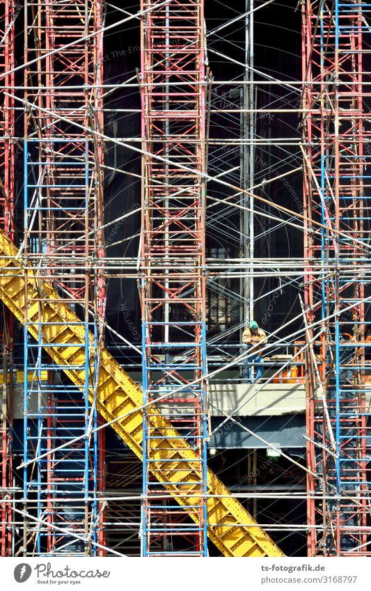 Turmbau zu Babel, Manhattan Arbeit & Erwerbstätigkeit Beruf Bauarbeiter Baustelle Baumaschine Mensch maskulin 1 New York City USA Stadtzentrum Haus Hochhaus