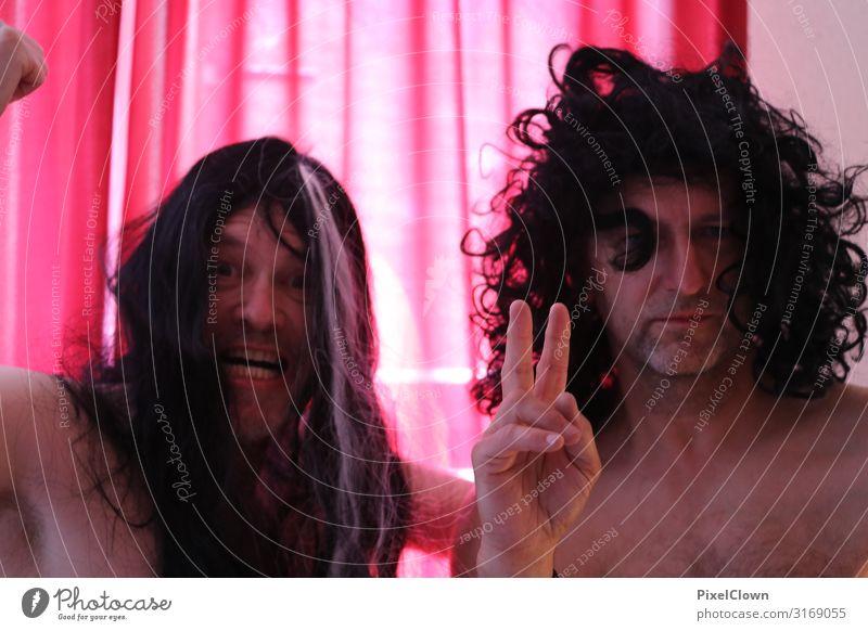 Midlife Crisis alter Männer Lifestyle exotisch Freude Party Mensch maskulin Mann Erwachsene Freundschaft Kopf Gesicht 2 45-60 Jahre Haare & Frisuren
