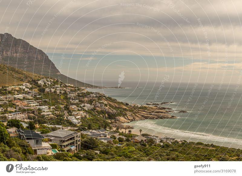 Camps Bay von oben / Südafrika Ferien & Urlaub & Reisen Tourismus Ausflug Abenteuer Ferne Freiheit Sightseeing Städtereise Expedition Natur Landschaft Himmel