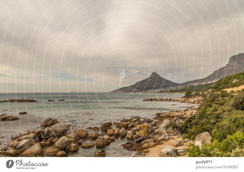 Küste nahe Kapstadt Himmel Ferien & Urlaub & Reisen Natur schön Wasser Landschaft Meer Erholung Wolken Ferne Strand Umwelt Freiheit Felsen Ausflug