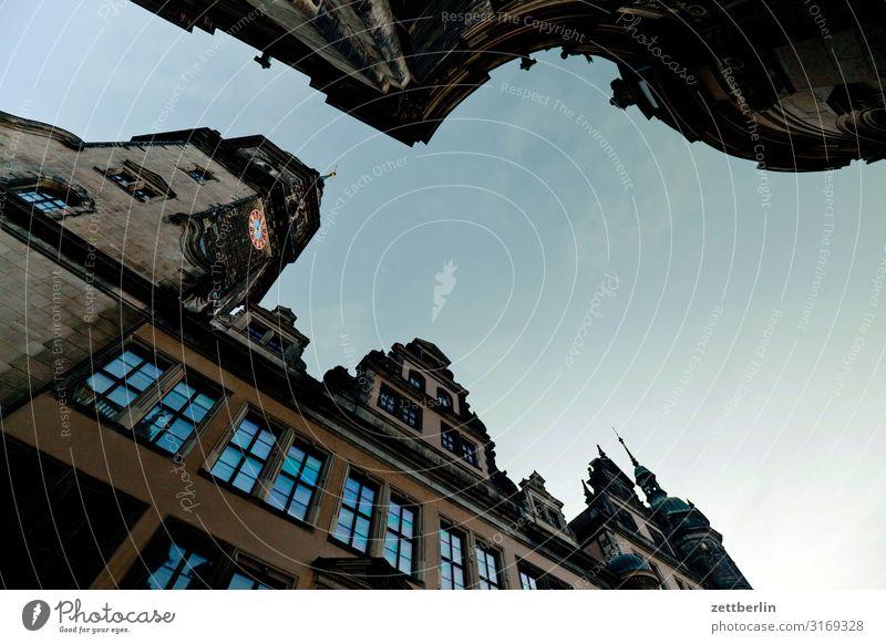 Residenzschloß Ferien & Urlaub & Reisen Stadt Reisefotografie Fenster Architektur Tourismus Fassade Kultur Hauptstadt Städtereise Altstadt Dresden Sachsen antik
