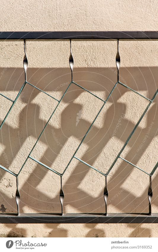 Schatten Zaun Tür Grenze Tor Eisen Schmiedeeisen Licht Originalität Widerspruch Täuschung Konzepte & Themen Reaktionen u. Effekte Bild Grafik u. Illustration
