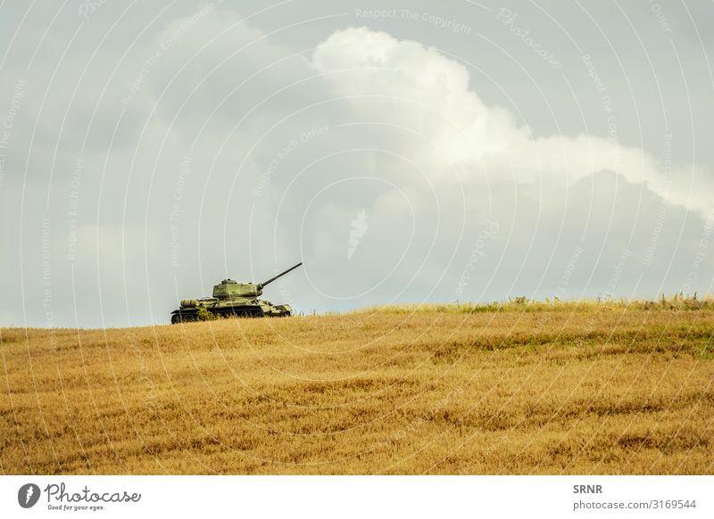 Tank Natur Wiese Fahrzeug alt Krieg Rüstung Panzerung gepanzert Dukla-Pass Europa Feld Kampffahrzeug Geschützturm Kapischowa Kapisova Land Wahrzeichen Flur