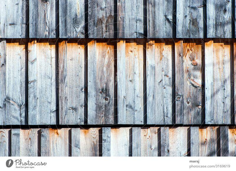 Dreireihige Holzfassade Holzwand Wand Maserung Holzmaserung Lärche Gedeckte Farben Schutz nachhaltig braun einzigartig Zusammensein eckig Patina abstrakt